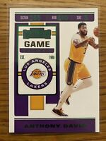 2019-20 Panini Contenders Anthony Davis #7 Los Angeles Lakers GREEN GAME TICKET