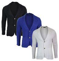Mens Pure Linen Blazer Jacket 2 Button Slim Fit Smart Casual Summer Light