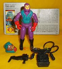 TOXO-VIPER (v1) 1988 Series 7 - With Card - G.I. Joe GI Hasbro ○○○○ COMPLETO