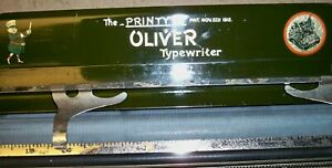 Vintage OLIVER No. #9 Typewriter Carriage ONLY/The PRINTYPE Pat. 1912/ VERY GOOD
