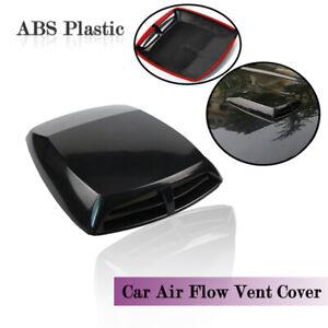 Car 3D Air Flow Intake Hood Scoop Vent Bonnet Cover ABS Plastic Sticker Decorate