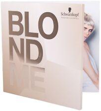 Schwarzkopf Blonde Me Swatch Book Color Chart
