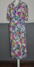 M&S St Michael Stunning Dress Summer Floral Viscose Pockets UK 14 Long Vintage