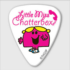 5 X Little Miss Chatterbox Guitar Picks Mr Men, 0.8mm, Official