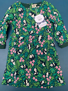 Frugi Panda Floral Lulu Jumper Dress Age 3-4 Years Brand New With Tags