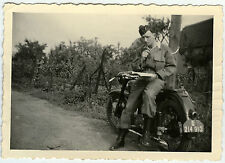 PHOTO ANCIENNE - MOTO MILITAIRE COURS DE CONDUITE - MOTORCYCLE -Vintage Snapshot
