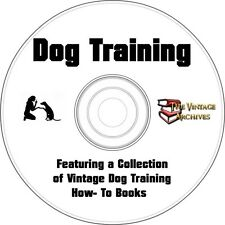 Vintage Dog Training  Book Collection on CD - Learn How to Train Your Dog