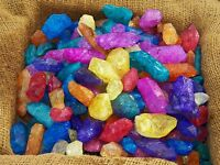 3000 Carat Lots of Dyed Crystal Points - Plus a FREE Faceted Gemstone