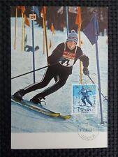 SPAIN MK 1964 OLYMPIA WINTER OLYMPICS MAXIMUMKARTE CARTE MAXIMUM CARD MC c1723