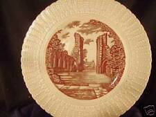 "Glastonbury Abbey plate 9"" br Royal Cauldon '49 England"