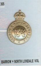 Cap Badge Barrow & North Lonsdale Volunteers