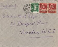 1919 Switzerland/Helvetia cover from Zurich to London England