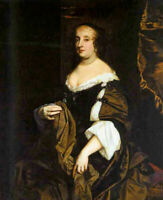 Oil painting Sir Peter Lely - lely peter portait of a lady hand painted canvas
