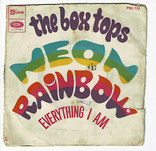 "The BOX TOPS Vinyl 45 tours 7"" NEON RAINBOW -EVERYTHING I AM -STATESIDE 524 RARE"