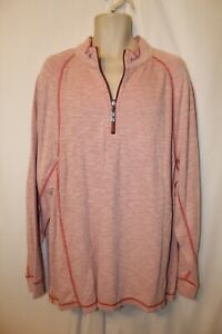 mens tommy bahama barrier beach 1/2 zip pullover XXL nwt $99.50 jester red