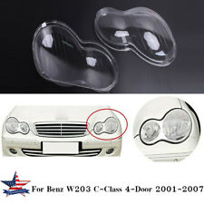 Pair Headlight Clear Lens Cover For Benz W203 4Door C230 C280 C320 2001-2007 CAO