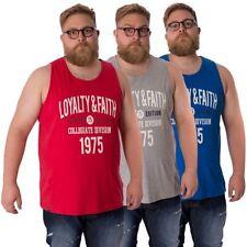 Patternless King Sleeveless T-Shirts for Men