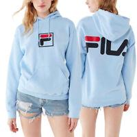 FILA Men's & Women's Exclusive Box Logo Hoodie Sweatshirt LIGHT BLUE