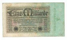 GERMANY REICHSBANKNOTE 1 BILLION MARK 1923