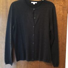 Pendelton Cardigan Sweater L, Charcoal Grey