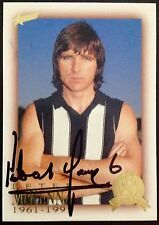 2003 SELECT AFL HALL OF FAME CARD PERSONALLY SIGNED BY PETER McKENNA COLLINGWOOD