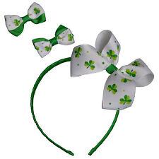 St Patricks Day - Dress Up, Novelty - Irish Headband & 2 Bow Clips
