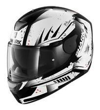 Casco integrale moto Shark D-Skwal Dharkov nero bianco black white taglia XS