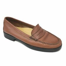 Women's GH Bass & Co Weejuns Catherine Loafers Shoes Size 7M Brown Leather AB9