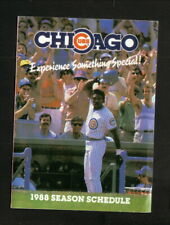 Chicago Cubs--Andre Dawson--1988 Pocket Schedule--Interstate Transmissions