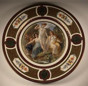 Antique 1920's Royal Schwarzburg Classical Mythology #5 Germany Porcelain Plate