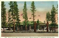 Vintage (1920s) Yellowstone National Park Western Entrance Photolithograph