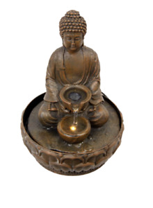 New LED Water Fountain Rulai Buddha Peaceful GIFT Home Decor indoor/outdoor