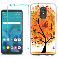 TPU Phone Case for LG Stylo 5 w/ Tempered Glass - Golden Tree