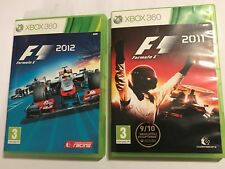2 x BOXED XBOX 360 F1 RACE RACING GAMES FORMULA 1 / ONE 2011 11 + 2012 12 PAL