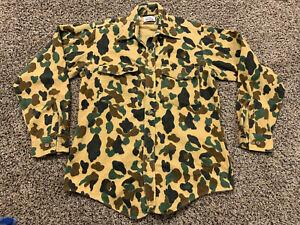Vintage Duxbak Woodland Camo Chamois Button Down Shirt Medium Duck Hunting