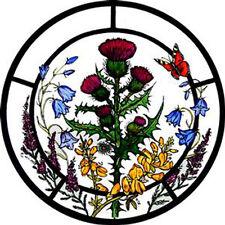Vidriera Arte-estática Decoración-Flores escocés