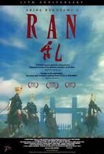 RAN Movie POSTER 27x40 Tatsuya Nakadai Akira Terao Jinpachi Nezu Daisuke Ryu