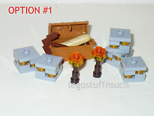NEW LEGO® MINECRAFT Gold ORE Redstone Coal Iron Lapis chest mine cave rock pick