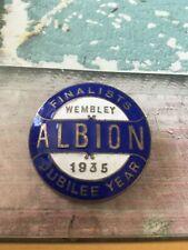 More details for original west brom wba 1935 fa cup final jubilee year enamel badge wembley rare