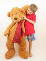 "GUND JUMBO 42"" Brown ULTRA SOFT Stuffed Animal Plush Bear Floppy High Pile CLEAN"