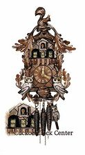 Cuckoo Clock 1-day-movement Chalet-Style 40 cm Black Forest Germany