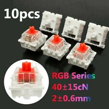 10Pcs Plastic For Cherry Red 3 Pin MX RGB Mechanical Switch Keyboard