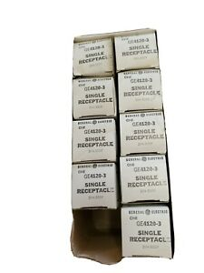 Box of 9 General Electric GE4120-3 Single Receptacle 20A-250V