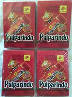 80 PCS Pulparindo XTRA HOT Tamarind Fruit Strip Chili Mexican Candy Lot 4 Boxes