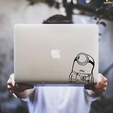 Sticker pour MacBook Pro Air - Les Minions - Noir ou Blanc - Fabriqué en France