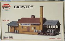 "Model Power #451 ""Brewery"" HO-Scale Building Kit Complete NOS"