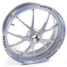 ESES Pegatina llanta Honda plata CBR 1100 XX 1100XX Azul adhesivo cintas vinilo