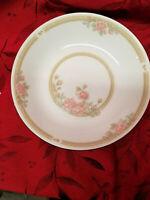 "4 CROWN MING ""Christina"" Cereal Soup  Bowls 7-1/2""  Pink Gold Rose, EUC Set of 4"