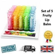 Set 5 Fruity scented lip balm gloss lipstick - Children's Girls Kids beauty kit