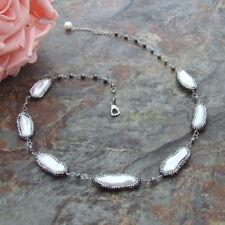 rhinestone  pave  White Biwa Pearl  Necklace